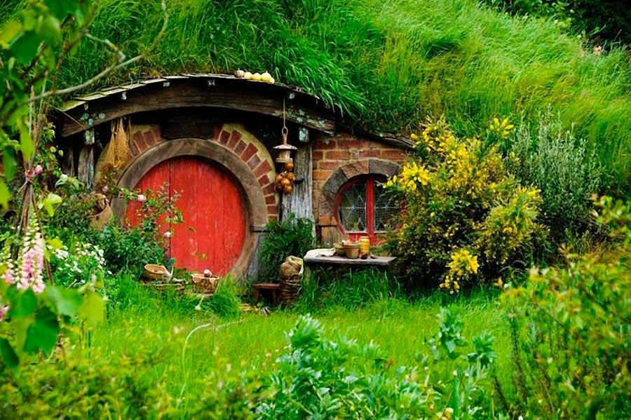 Самые оригинальные дома в мире Дом Хоббита в Матамата, Новая Зеландия