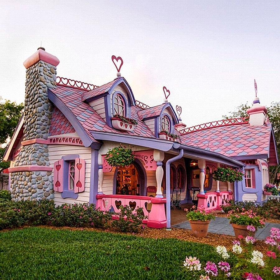 Самые оригинальные дома в мире Маленький розовый дом Изабеллы, США