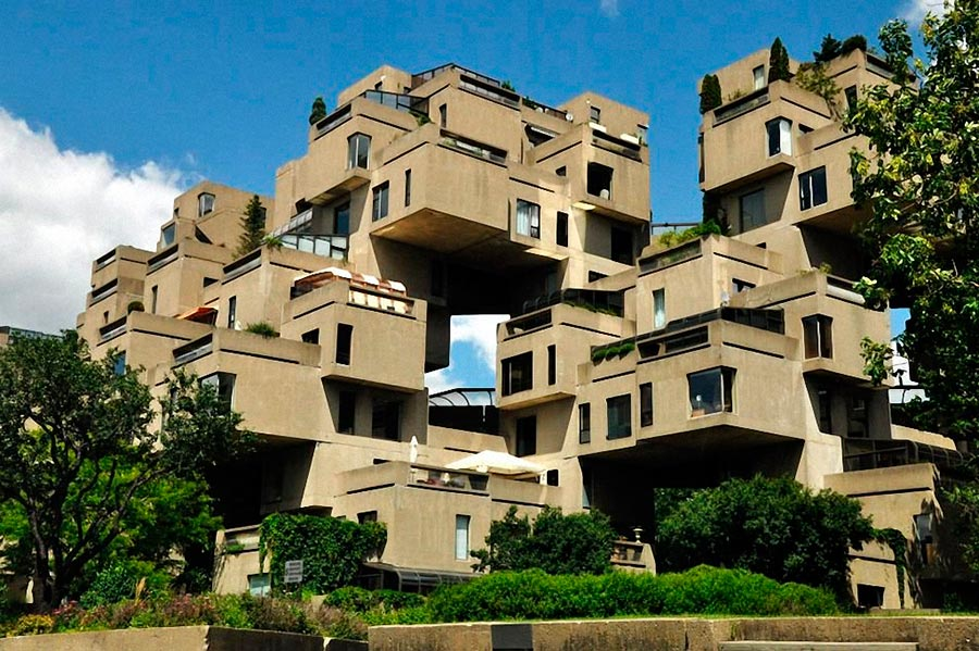 Самые оригинальные дома в мире Хабитат Habitat 67 Moshe Safdi Канада