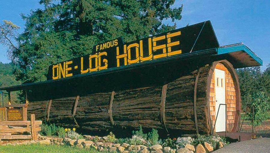 Самые оригинальные дома в мире Дом-бревно Гарбервилль США
