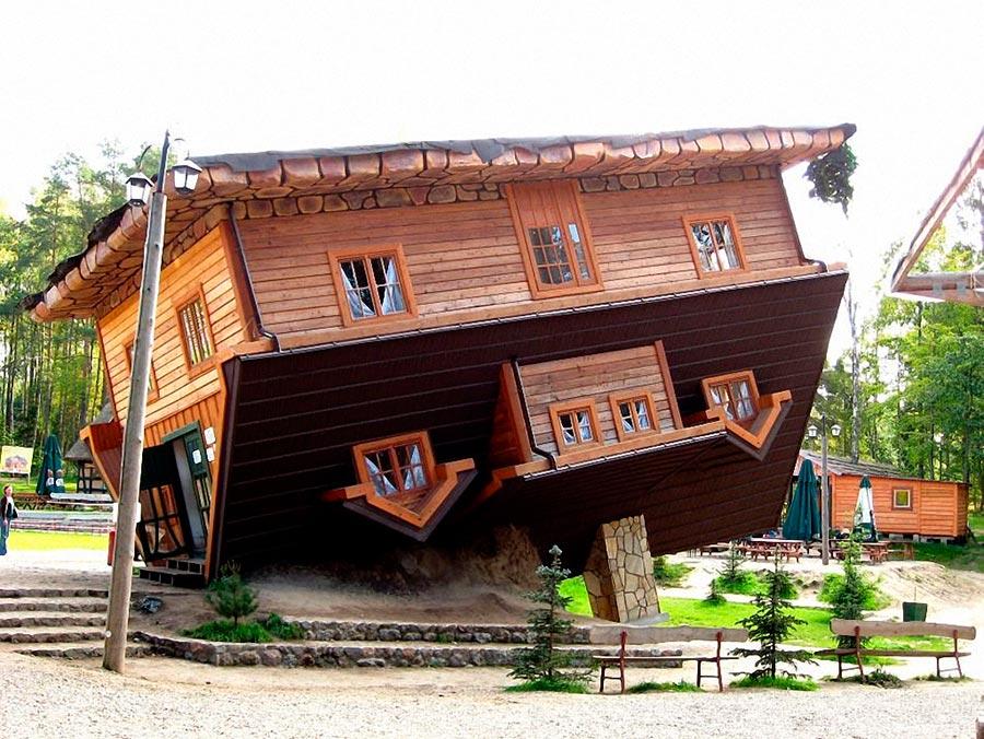 Самые оригинальные дома в мире Перевернутый дом Шимбарк Польша