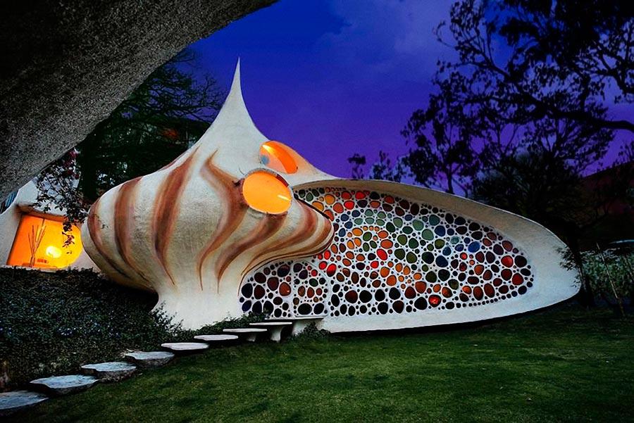 Самые оригинальные дома в мире Дом-раковина Nautilus Наутилус Мексика