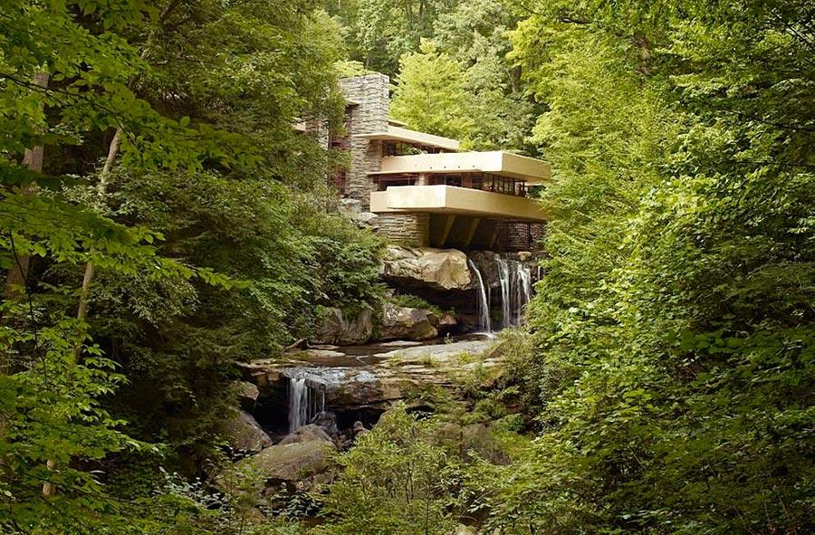 Самые оригинальные дома в мире Дом-водопад в США