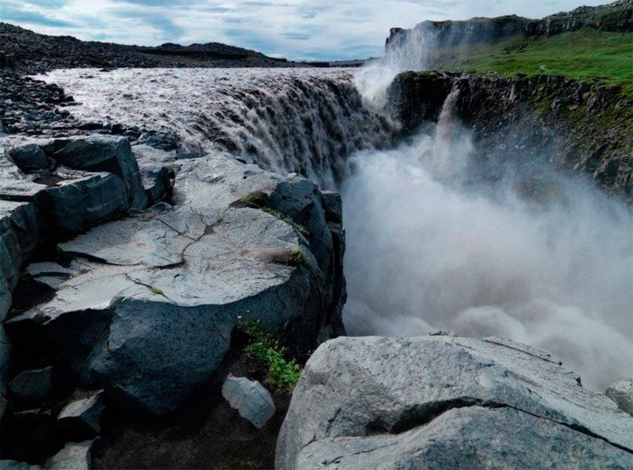 Iceland Исландия водопад Dettifoss Vatnajokull