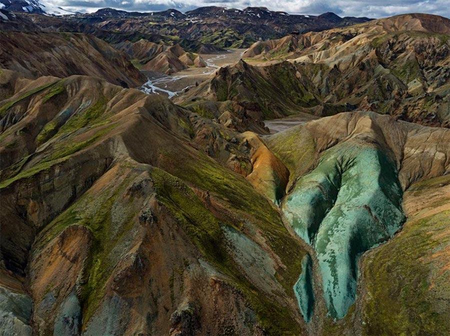 Iceland Исландия горные хребты