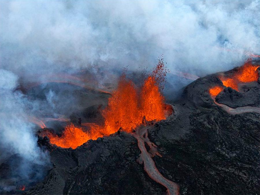 Iceland Исландия вулкан Баурдарбунг