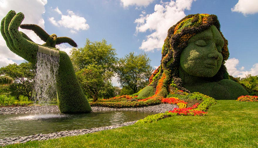 фонтаны мира Mosaïcultures Internationales Монреаль Канада Montreal Canada