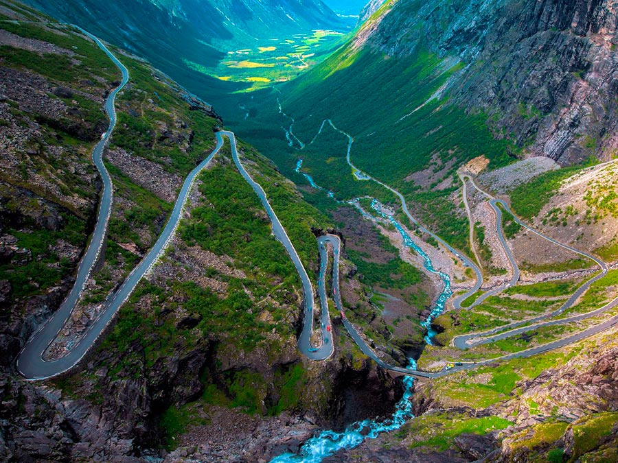 Красивейшие автотрассы мира Trollstigen Road, Норвегия