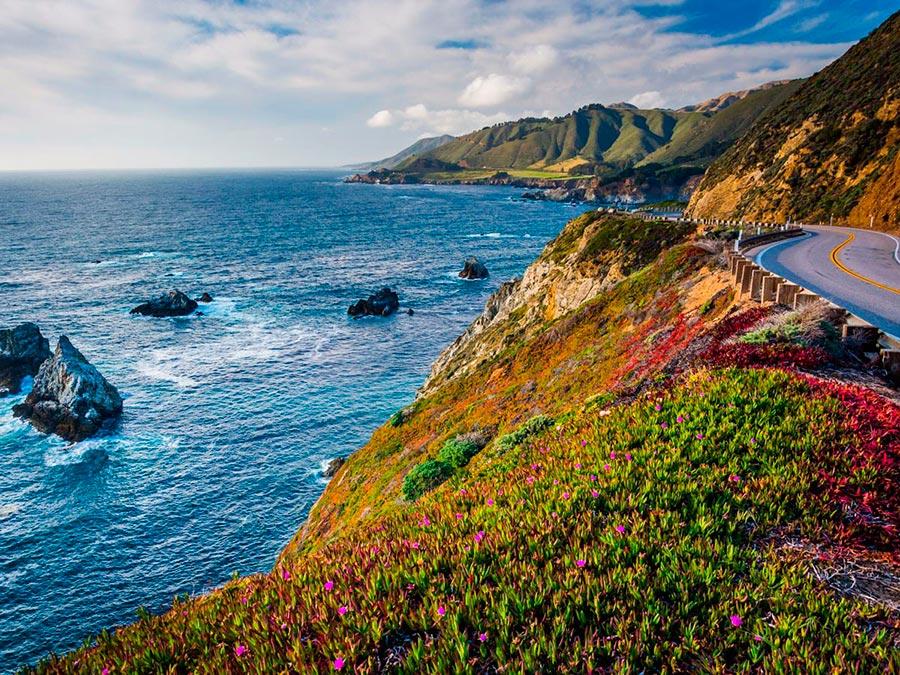 Красивейшие автотрассы мира Pacific Coast Highway Калифорния США