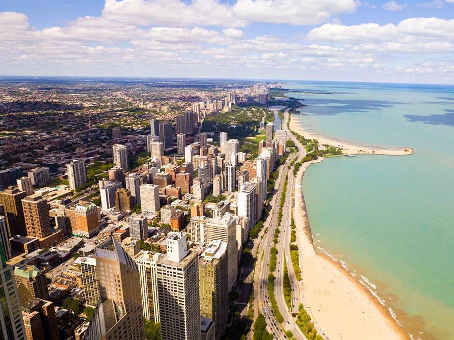 Красивейшие автотрассы мира Lake Shore Drive Чикаго США