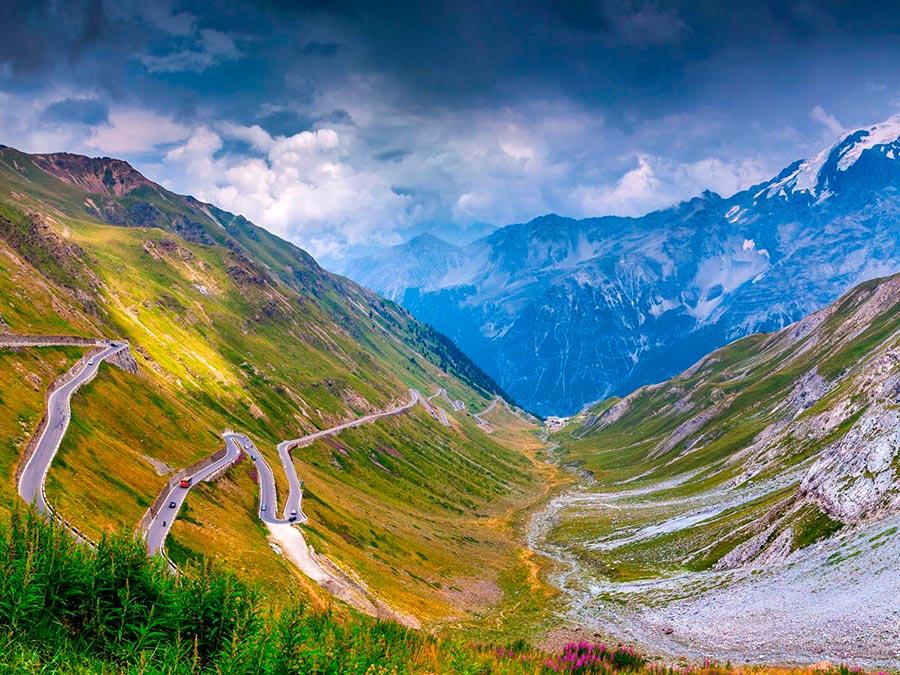 Красивейшие автотрассы мира Stelvio Pass, Италия