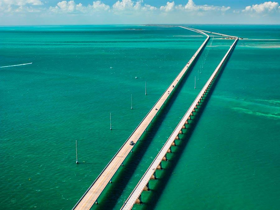 Красивейшие автотрассы мира Overseas Highway во Флориде, США