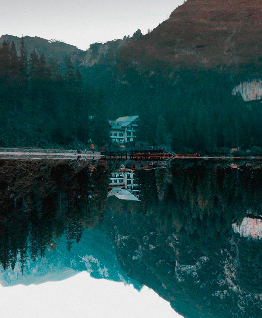 Неведомая красота озера Брайес Италия Braies Italy