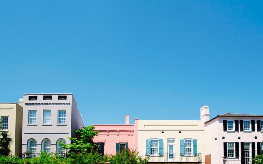 цветные города планеты Рейнбоу-Роу Чарльстон США