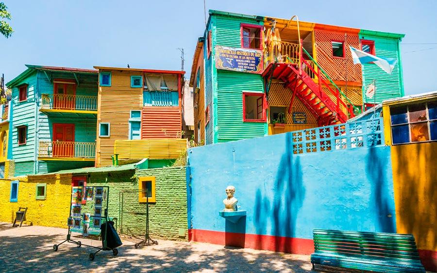 цветные города планеты Ла-Бока Буэнос-Айрес Аргентина