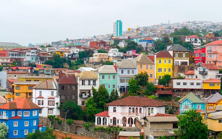 цветные города планеты Вальпараисо Чили