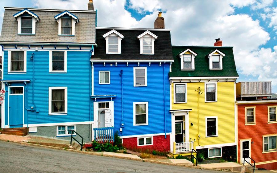 цветные города планеты Сент-Джонс Ньюфаундленд Канада