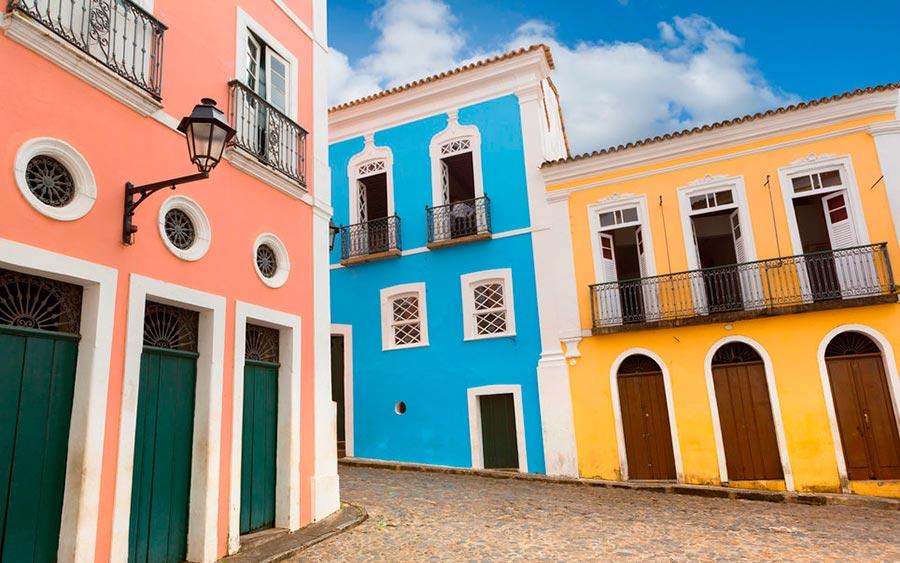 цветные города планеты Пелоуриньо Сальвадор Бразилия
