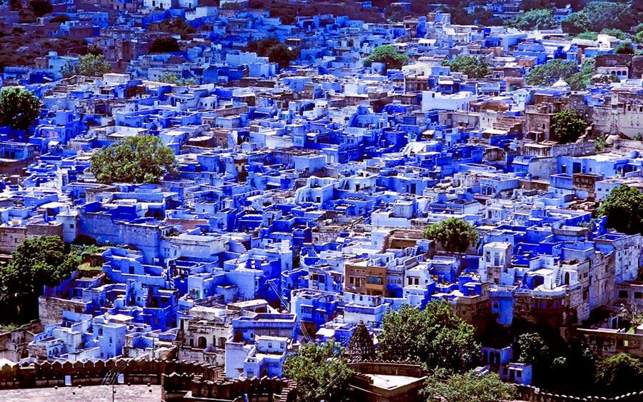 цветные города планеты Джодхпур Индия