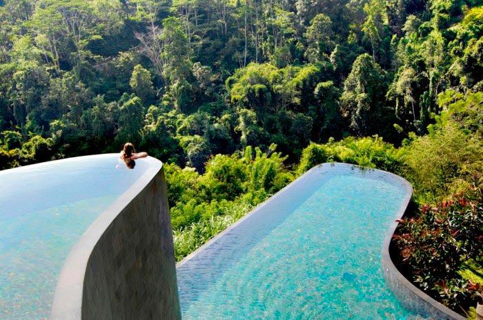Крутые бассейны в отелях Hanging Gardens Ubud Hotel in Bali Бали Индонезия