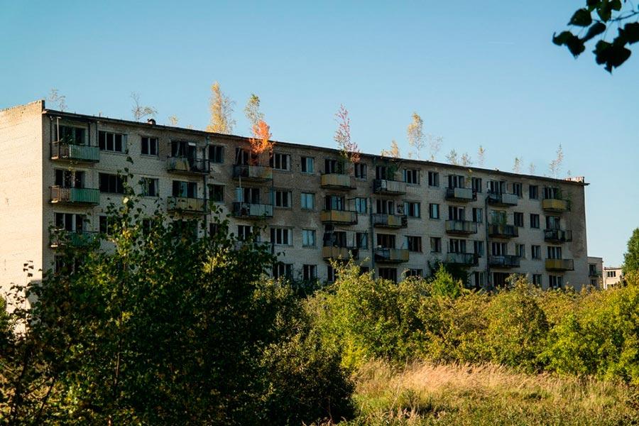 ghost town skrunda Город-призрак Скрунда-1