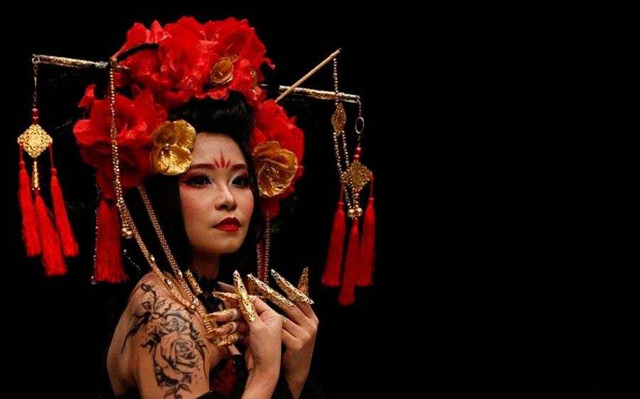 hats made of hair Шляпы из волос Джакарта Индонезия Jakarta Fashion Week Indonesia