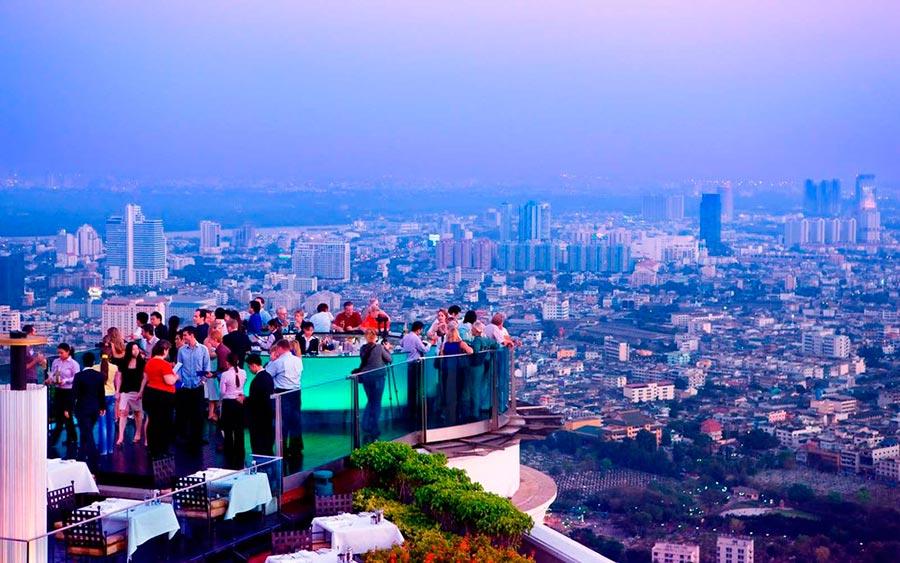 Самые высокие места планеты открытый бар Sky bar rooftop Бангкок Таиланд Bangkok Thailand