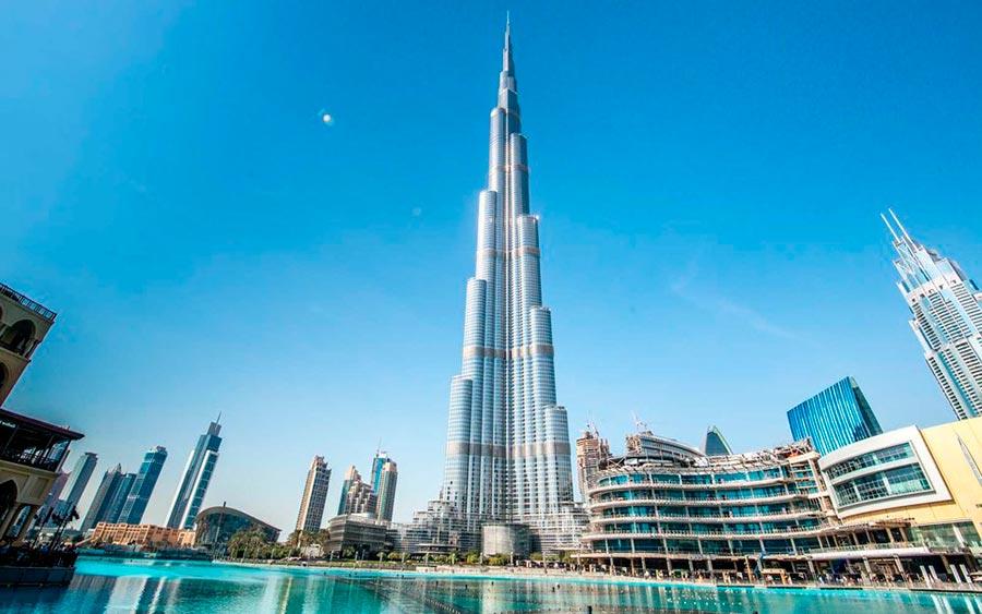 Самые высокие места планеты небоскреб Бурдж-Халиф Дубай ОАЭ Burj Khalifa Dubai UAE