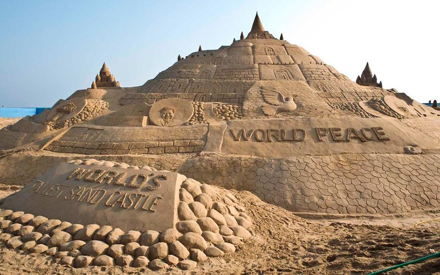 Самые высокие места планеты замок из песка Пури Индия Puri India