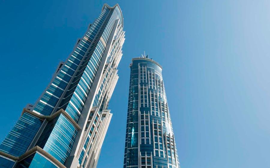 Самые высокие места планеты отель JW Marriott Marquis Дубай ОАЭ Dubai UAE