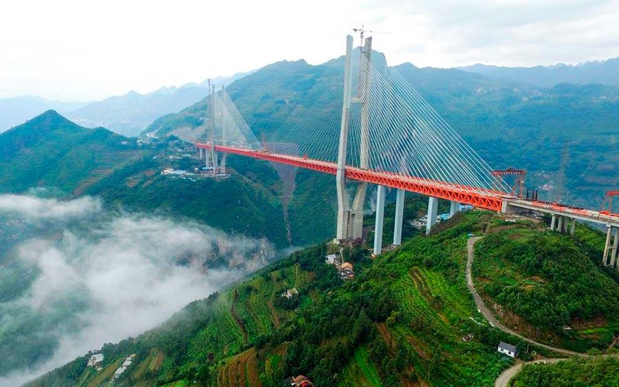 Самые высокие места планеты мост Бэйпаньцзян Китай China