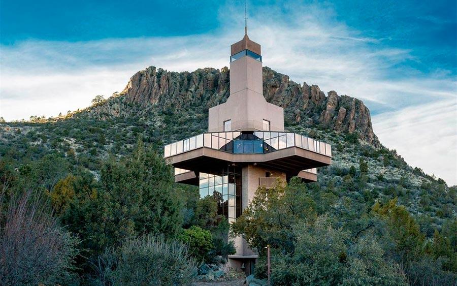 Самые высокие места планеты частный дом Соколиное гнездо Аризона США Arizona USA