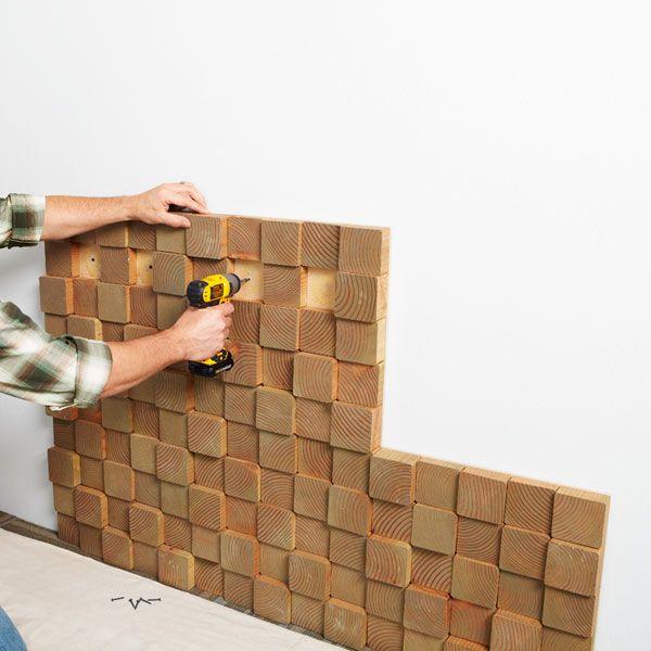 Идеи отделки помещений деревом Декоративное панно