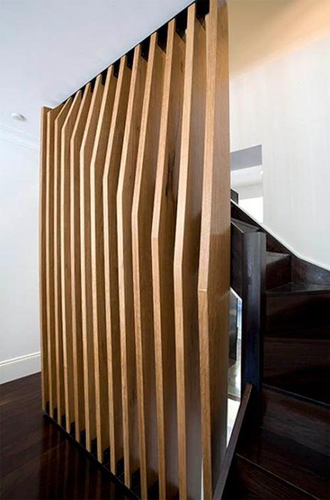 Идеи отделки помещений Деревянная перегородка