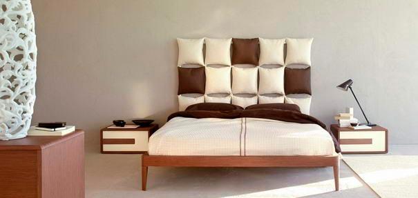 Спальня: уникальные идеи Подушки от Энрико Чезана