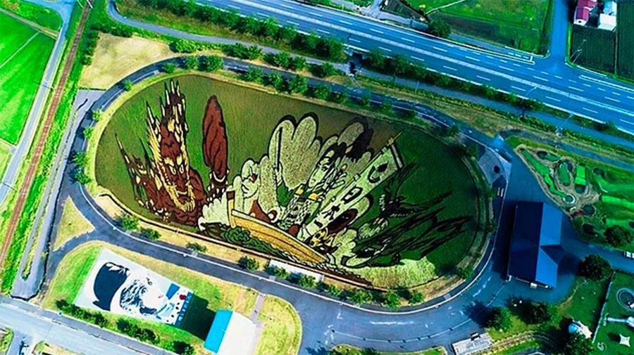 Japan Япония картины из риса