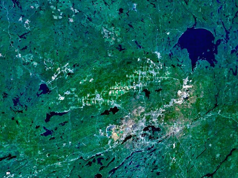 Крупнейшие метеоритные удары в истории Бассейн Садбери, Онтарио, Канады