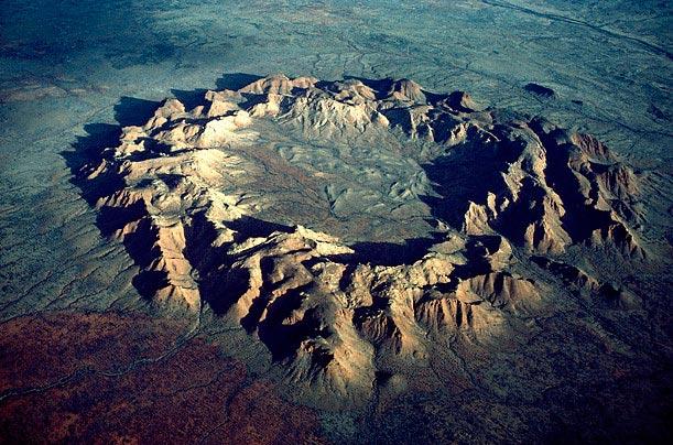 Крупнейшие метеоритные удары в истории Госсес Блафф, Северная территория, Австралия