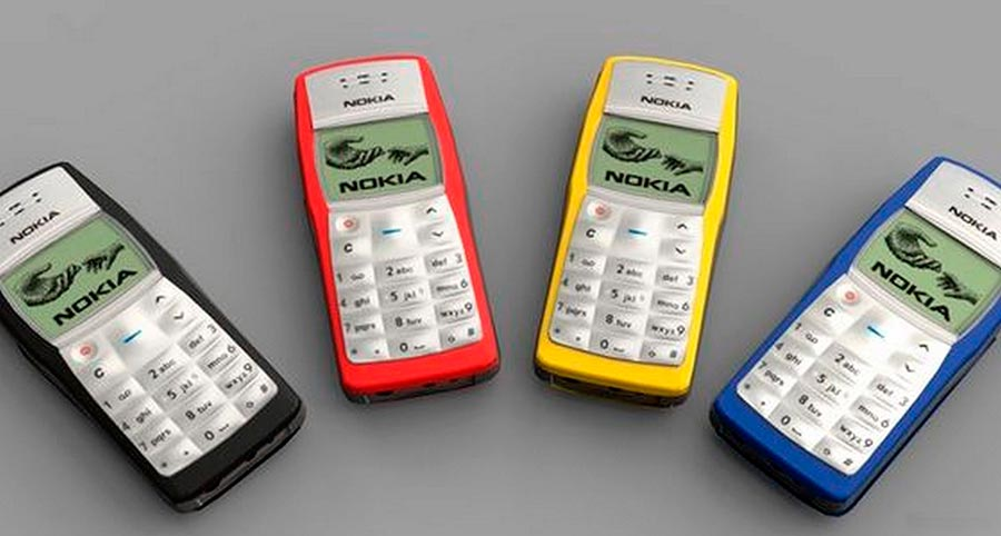 Мобильные телефоны-бестселлеры Nokia 1100
