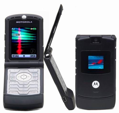 Мобильные телефоны-бестселлеры RAZR V3 Motorola