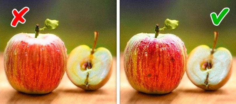 натуральный продукт или химический яблоки