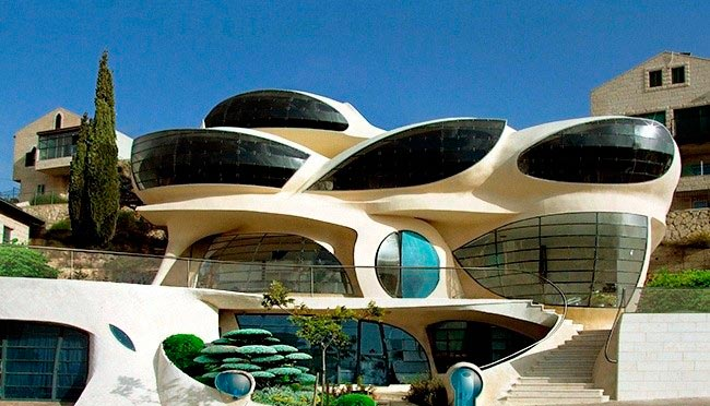 Самые оригинальные дома в мире Биоморфный дом, Израиль