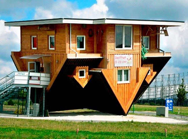 Самые оригинальные дома в мире Перевернутый дом, Германия