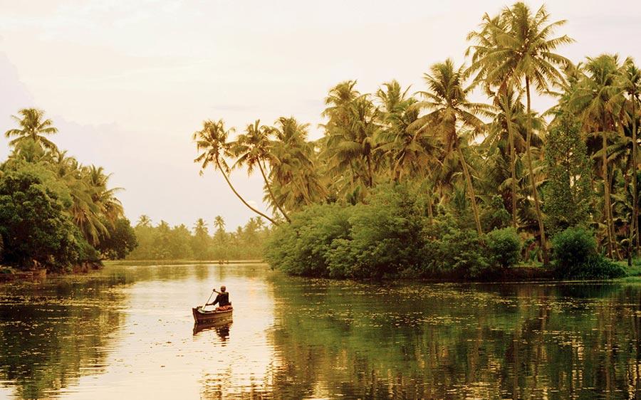 места для романтического путешествия Штат Керала Индия Kerala India