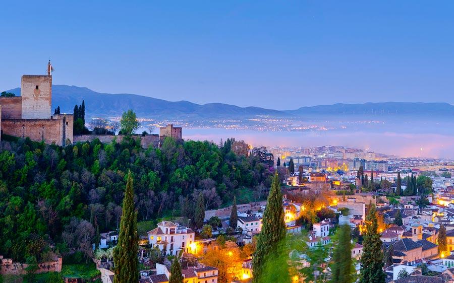 места для романтического путешествия Гранада Испания Spain
