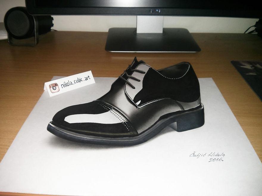 Крутые реалистичные 3D рисунки Ботинок