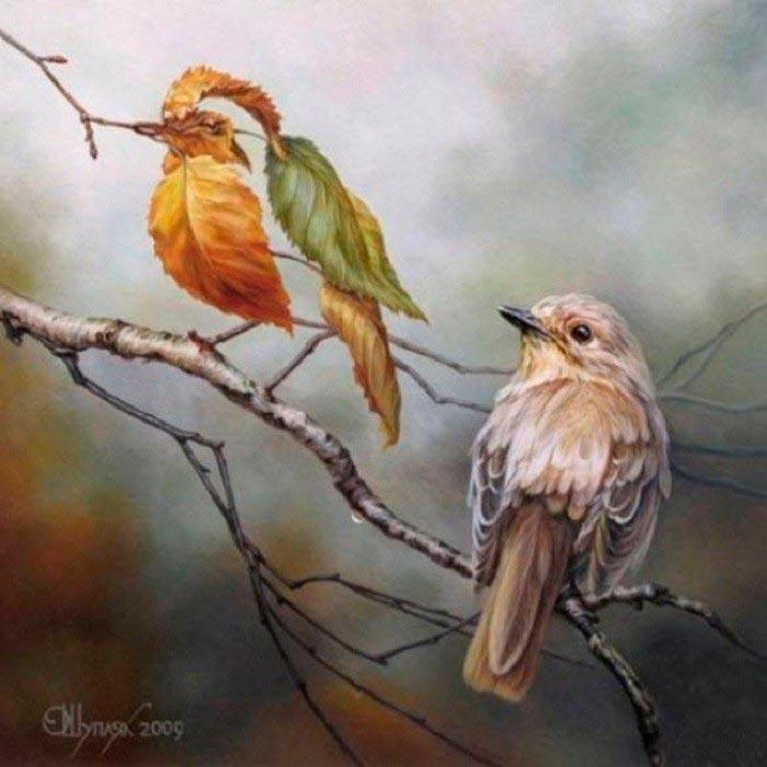 Олег Шупляк картины на которых есть еще кто-то Две пташки