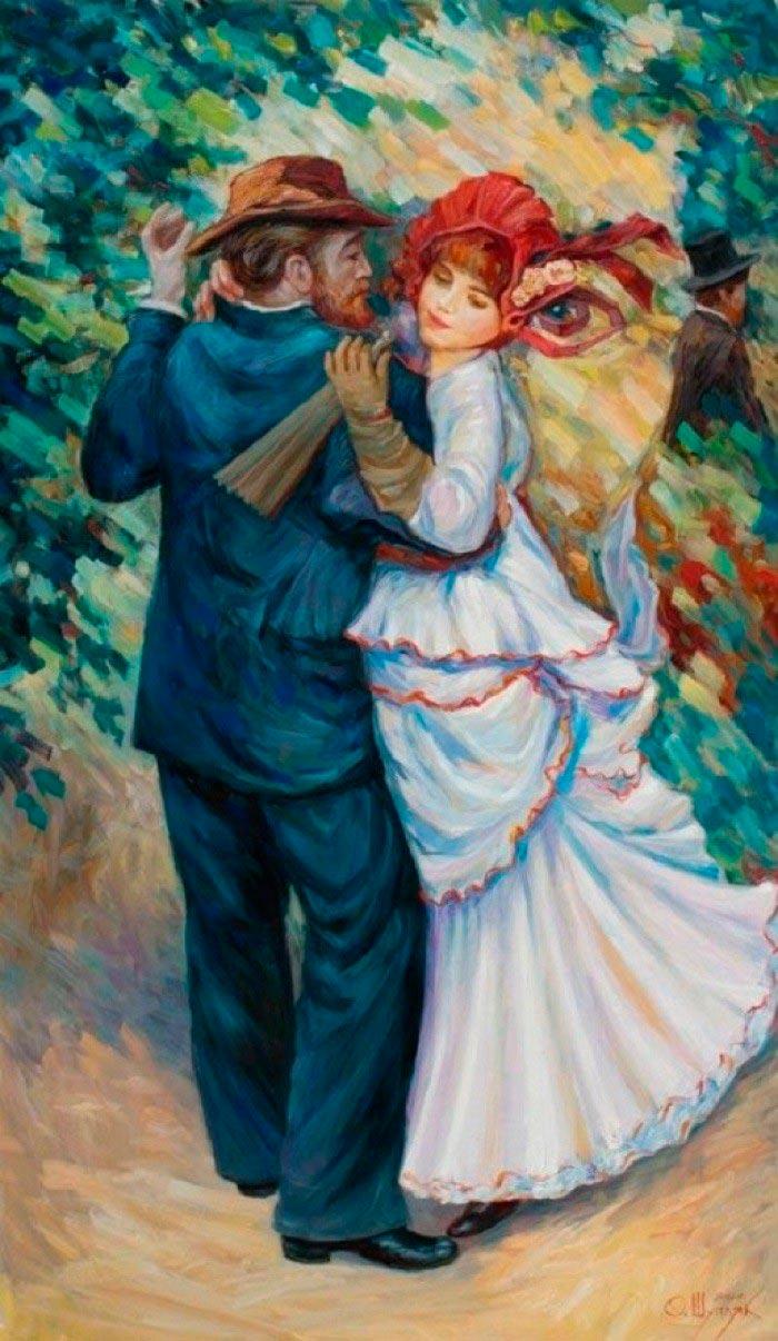 Олег Шупляк картины на которых есть еще кто-то Танцующий Ренуар