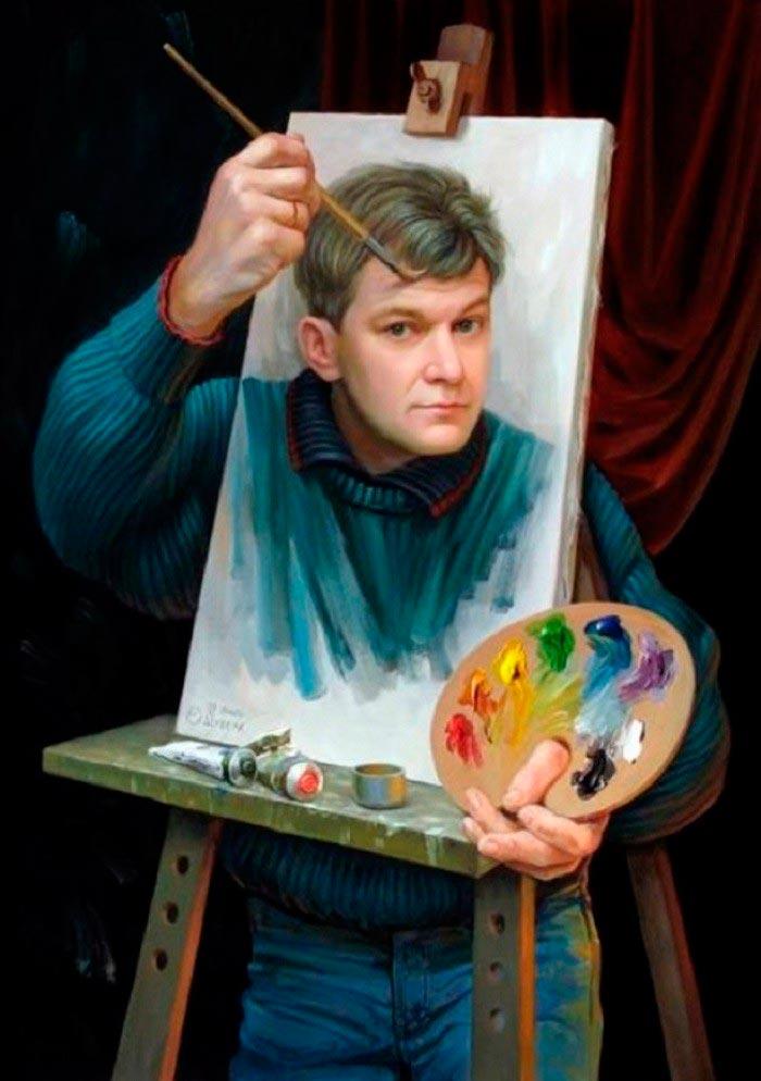 Олег Шупляк картины на которых есть еще кто-то