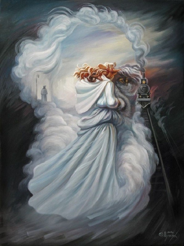 Олег Шупляк картины на которых есть еще кто-то Анна Каренина